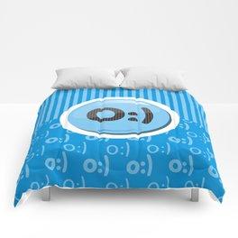 Blue Writer's Mood Comforters