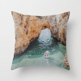 boat life iii / lagos, portugal Throw Pillow