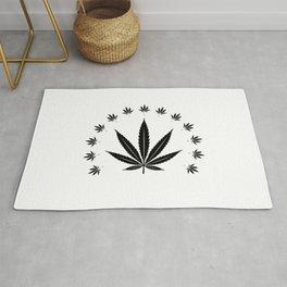 Cannabis leaf | Smoke Weed Pot Marijuana Gift Idea Rug