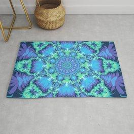 The Aqua Star Mandala Rug