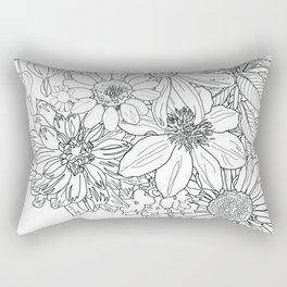 our garden flowers Rectangular Pillow