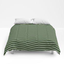 Dark Forest Green Chevron Zigzag Stripes Comforters