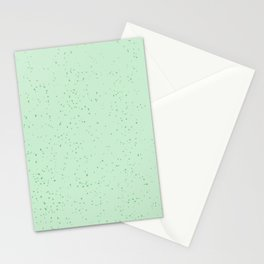 Mint Spackled Pattern Stationery Cards