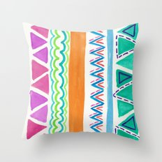 Watercolor Pattern Throw Pillow