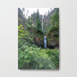 Multnomah Falls in the Columbia River Gorge in Oregon Metal Print