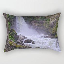 Summer Snow Melt - Waterfall & Forest Rectangular Pillow