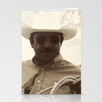 cowboy bebop Stationery Cards featuring Cowboy by DistinctyDesign