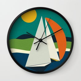 mid century sails Wall Clock