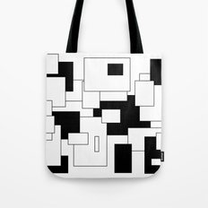 Squares - black and white. Tote Bag