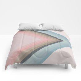 Pastel Pyramids Comforters