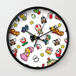 It's a really SUPER Mario pattern! Wall Clock
