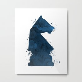 Chess Knight Metal Print
