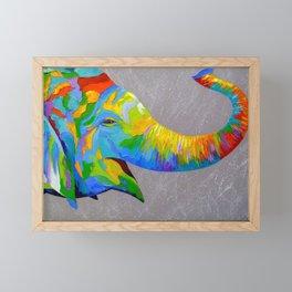Smiling elephant Framed Mini Art Print