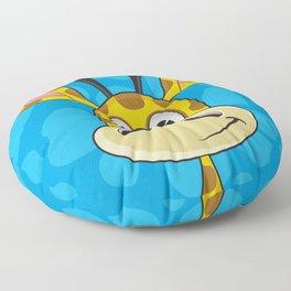 Cute Cartoon Giraffe Floor Pillow
