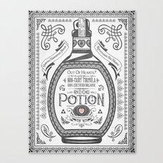 Legend of Zelda Red Potion Vintage Hyrule Line Work Letterpress Canvas Print