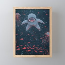 Floating in Space Framed Mini Art Print