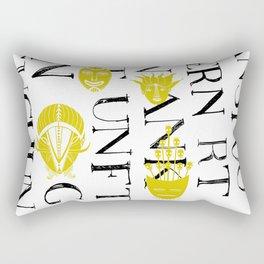 We face the Type! Rectangular Pillow
