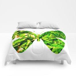 Fluid Butterfly (Green Version) Comforters