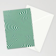 DISTORTION GREEN Stationery Cards