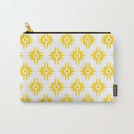Mid Century Modern Bang Pattern 272 Yellow Carry-All Pouch