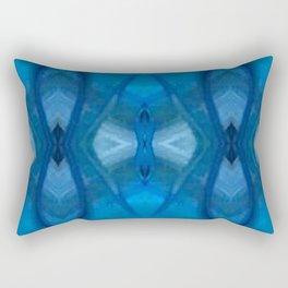 Pattern III Blue Rectangular Pillow