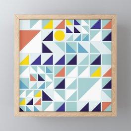 Sunny Geometric Regatta #pattern Framed Mini Art Print