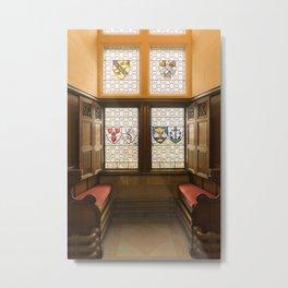 Edinburgh castle stained glass windows Scotland Metal Print