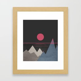 Minimal Sunset 10 Framed Art Print