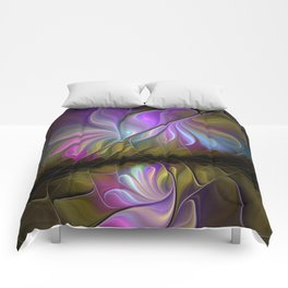 Come Together, Abstract Fractal Art Comforters