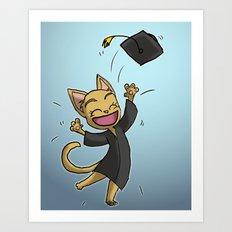 Graduate Cat Art Print