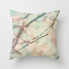 spring #2 (pink&bleu) Throw Pillow