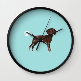 german shorthair pointer funny farting dog breed gifts Wall Clock