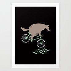 Wheelwolf Art Print