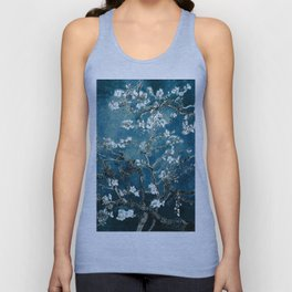 Van Gogh Almond Blossoms : Dark Teal Unisex Tank Top