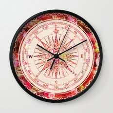 Follow Your Own Path II Wall Clock