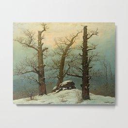 Caspar David Friedrich - Cairn in Snow Metal Print