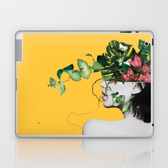 Lady Flowers Laptop & iPad Skin