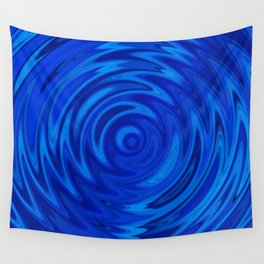 Water Moon Cobalt Swirl Wall Tapestry