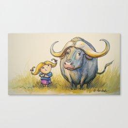 """""""Water Buffalo Buddies"""" Canvas Print"""
