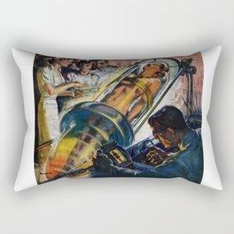 Vintage Sci-Fi (Science Fiction) Illustration Rectangular Pillow