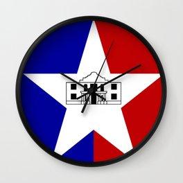 American cities-  Flag of San antonio Wall Clock