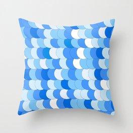 She-quins Blu Throw Pillow