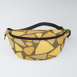 Broken pieces2 - brown & yellow Fanny Pack