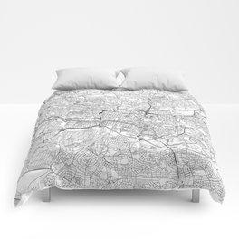 Glasgow Map Line Comforters