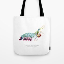 Peacock Mantis Shrimp Tote Bag