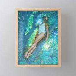 Daydream in Blue Framed Mini Art Print