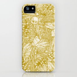 forest floor gold ivory iPhone Case