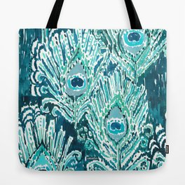PEACOCKY - TEAL Tote Bag