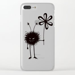 Evil Flower Bug Clear iPhone Case