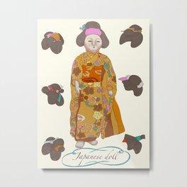Japanese doll Metal Print